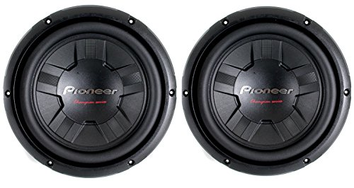 2) Pioneer 2400 Watt 10 Inch Subwoofers Champion Series SVC Car Subs | TS-W261S4 (Pioneer Subwoofer Champion compare prices)