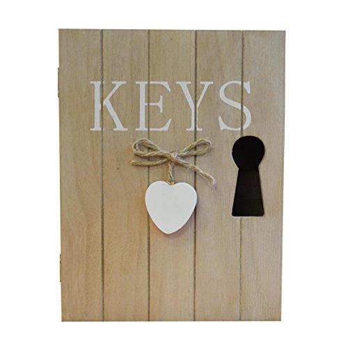new-wooden-6-key-heart-keyhole-cabinet-box-white