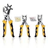 Dimart 3pcs Card Leather Belt Hole Punch Eyelet Plier Snap Button Setter Tool Kit