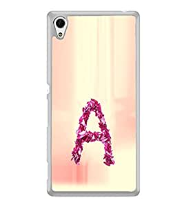 ifasho alphabet name series A Back Case Cover for Sony Xperia M4 Aqua