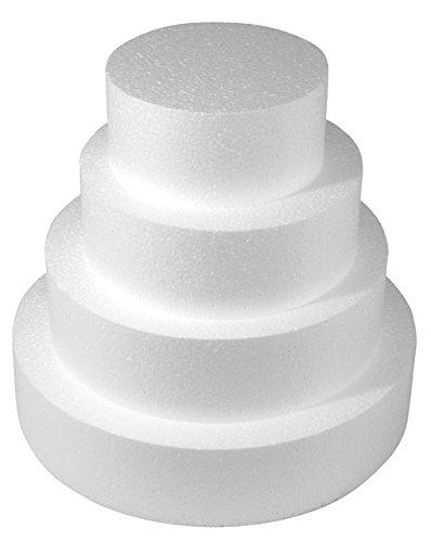 Pièce montée polystyrène - Ø 30 à 10 cm - Haut 28 cm - 4 p - Rayher