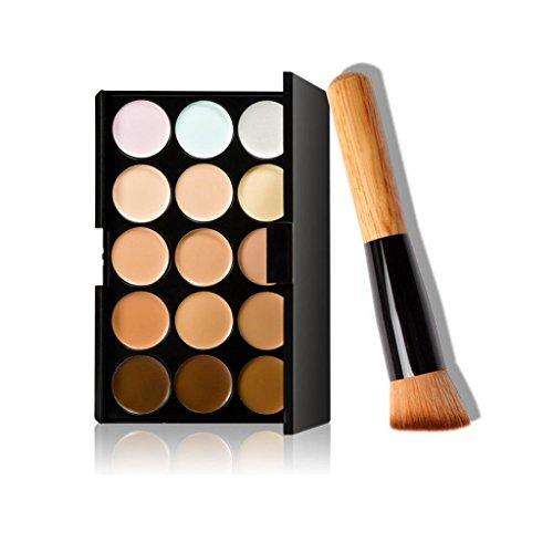 Ularma 15 Couleurs Maquillage Correcteur Contour Palette + Pinceau de Maquillage