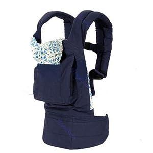 La vogue Mochila Portabebés Algodón Ajustable Para Bebés Niños-Azul