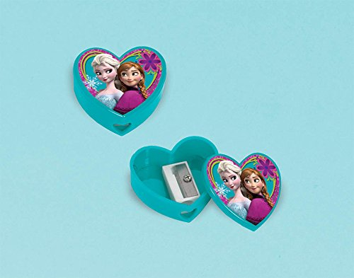 "Amscan Disney Frozen Pencil Sharpener Party Favor, Teal, 1 1/2"" x 3/4"""