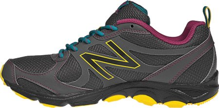 New Balance New Balance Women's WT320 Neutral Trail Running Shoe,Grey/Yellow,10.5 B US