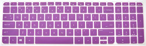 Bodu Colored Silicone HP Laptop Keyboard Protector for HP Pavilion 15,Pavilion G15,ENVY TouchSmart 15,ENVY 15-j015TX,CQ15,ENVY 17-j106TX,PROBOOK 350 G1,G15 TouchSmart Sleekbook Such as 15-j,15-b,15t-j,15t-e,15z-j,15z-e,15z-b Series(Purple) (Computer Key Board Cover compare prices)