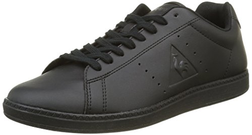 Le Coq Sportif Courtone S Lea Sneaker da Uomo, Colore Nero (Black/BlackBlack/Black), Taglia 42 EU (8 UK)