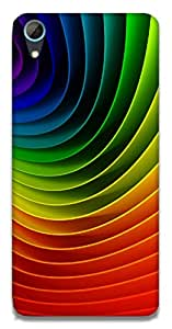 The Racoon Lean Rainbows hard plastic printed back case / cover for HTC Desire 826