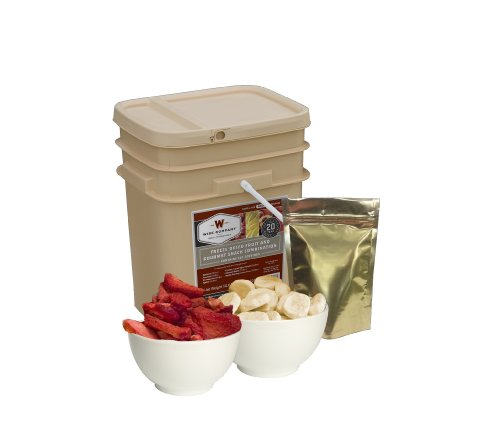 Wise Company Freeze Dried Fruit and Gourmet Snack Combination-120 Servings, 46.8-Ounce