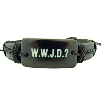 Set A Shopping Price Drop Alert For Wwjd Leather Bracelet Catholic Gift Adjustable Bracelet What Would Jesus Do
