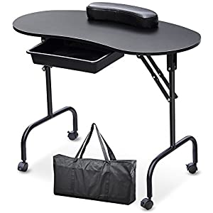 Popamazing portable folding collapsible manicure table for Fold up nail table