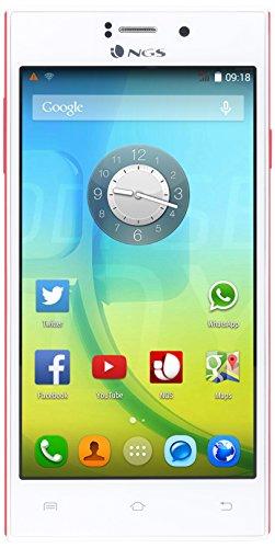 NGS Odysea 500QHD, Smartphone ohne Vertrag mit 5-Zoll-Display (WLAN, Bluetooth 4.0, Prozessor: MediaTek 6582M 1,2GHz Quad-Core, DDR2-Arbeitsspeicher: 1GB, eMMC-Karte: 8GB, Android 4.4.2 KitKat)