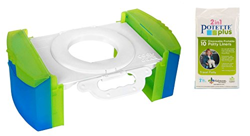 Cool Gear Folding Portable Travel Potty Seat for Car with Kalencom Potette Plus Liners Bundle (Travel Potty By Cool Gear compare prices)
