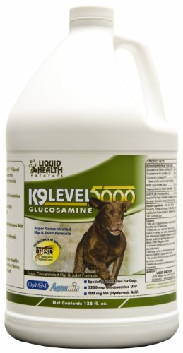 For Animals-K-9 Level 5000 Glucosamine Liquid Health 128 Oz Liquid