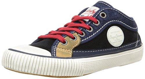 Pepe Jeans Industry Patch, Jungen Sneaker  Blau Bleu (580Sailor) 32