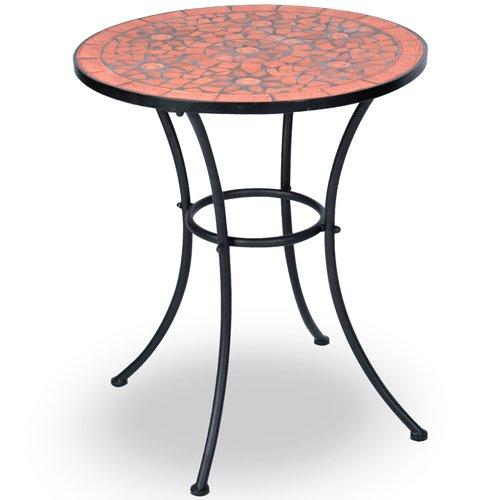 jago mgts02 tavolo mosaico da giardino in acciaio. Black Bedroom Furniture Sets. Home Design Ideas