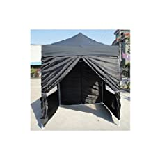 NEW WATERPROOF 2.5M X 2.5M POP UP TENT GAZEBO MARQUEE PARTY TENT CANOPY+4 SIDES (BLACK)