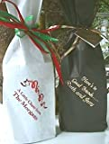 41No1ySRjGL. SL160  Personalized Wine Bags   White