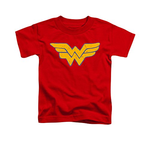 Justice League Of America DC Comics Wonder Woman Distressed Logo Toddler T-Shirt