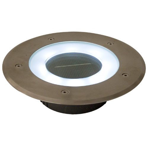 Commercial Grade 8 Led White Halo Solar Round Recessed Deck Dock Patio Pathway Accent Light