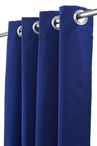 "Outdoor Curtain Panel, 50""W x 84""L, BLUE SUNBRELLA"