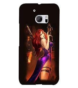 PRINTSWAG ACTION GIRL Designer Back Cover Case for HTC 10