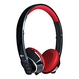 MEE audio Runaway 4.0 Bluetooth Stereo Wireless + Wired Headphones with Microphone (Black/Red)