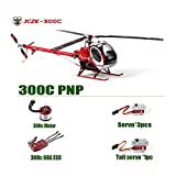 JC300C Metal 9CH RC Helicopter 2.4G Brushless RTF/PNP/KIT Set DFC Electric High Simulation Helicopter 60A ESC/3 Blades Drone 300C Pnp (Color: Clear, Tamaño: Standard)