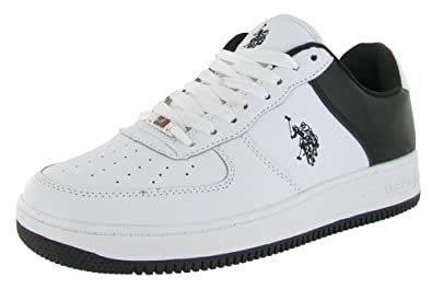 U.S. Polo Men's Branson Court Sneakers Shoes White Size 8.5