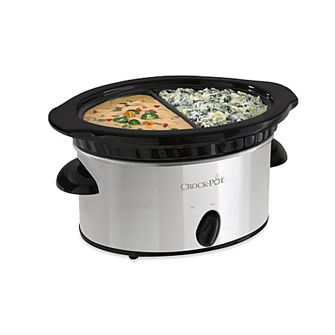 Crock-Pot® 4-Cup Double DipperTM 16-ounce Capacity Slow Cooker Stainless Steel Exterior (Crock Pot 4 Cup Double Dipper compare prices)