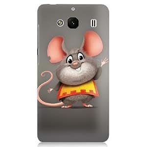 Clapcart Animated Rat Design Printed Back Cover for Redmi 2, Redmi 2 Prime and Redmi 2S- Multicolor