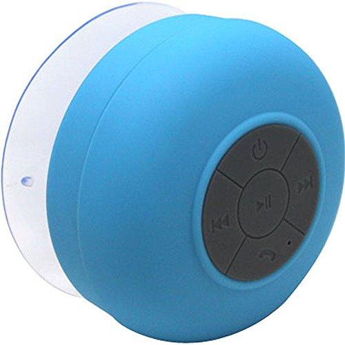 Polaroid Waterproof Bluetooth Shower Speaker With Build In Microphone And High-Definition Wireless Sound