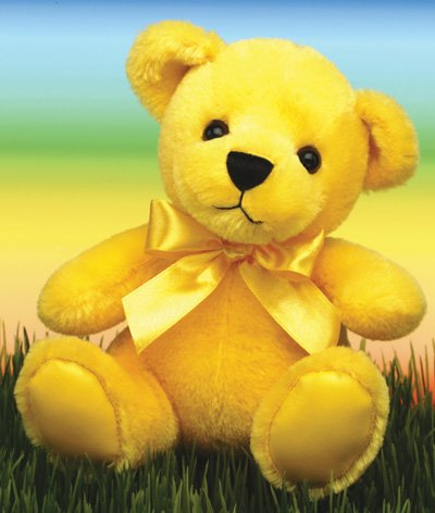 First & Main 1584 Yellow Rainbow Bear - 1