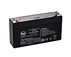 Portalac PE6V1.2 6V 1.3Ah UPS Battery - This is an AJC Brand® Replacement