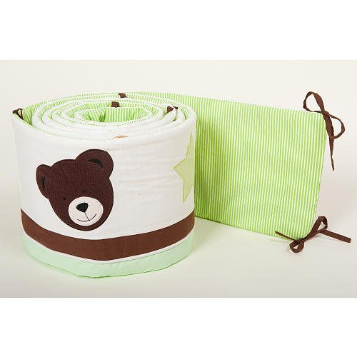 Pam Grace Creations Baby Bear Crib Bumper front-940234