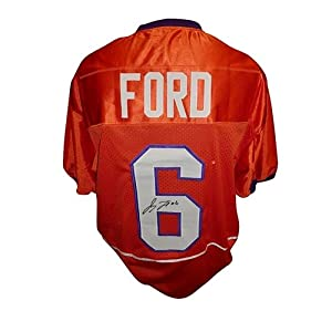 Jacoby Ford Autographed Clemson Tigers (Orange #6) Jersey by PalmBeachAutographs.com
