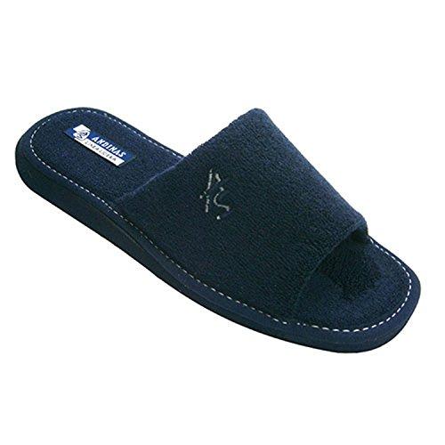 Aprire pantofole punta asciugamano gentleman Andinas blu navy taille 44