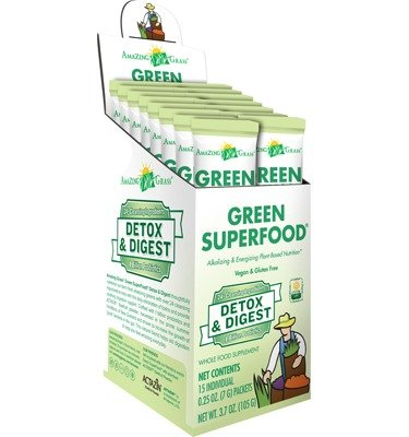 Amazing Grass Detox and Digest Green Superfood, 15 Count (Juice Packets compare prices)