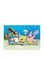 Artopweb Panel Decorativo Spongebob 60x90 cm Bordo Nero