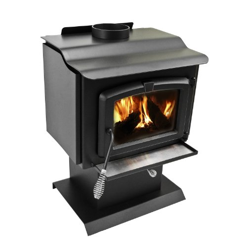 Pleasant Hearth 1,200 Square Feet Wood Burning Stove, Small