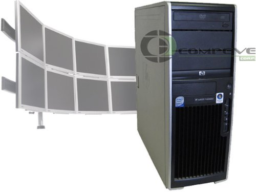 HP XW4600 Multimonitor 8 Monitor Trading Desk Computer Workstation PC eTrade Forex