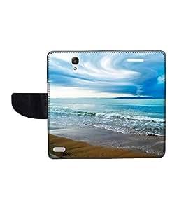 KolorEdge Printed Flip Cover For Redmi Xiaomi Note Multicolor - (55KeMlogo09277XiaomiNote)