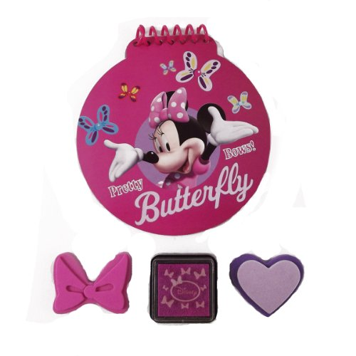 "Disney Minnie ""Bowtique"" Notepad and Stamp Set on Blister Card"