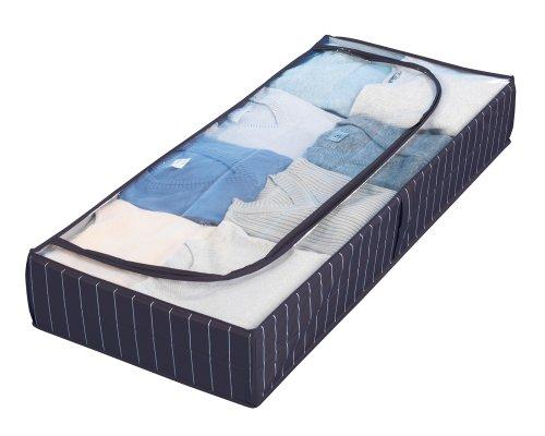 WENKO-4380440100-Unterbettkommode-Comfort-Kunststoff-PEVA-105-x-15-x-45-cm-Blau