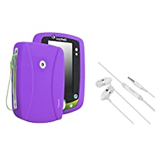 buy Everydaysource Compatible With Leapfrog Leappad 2 Purple Silicone Case With Free White In-Ear (W/On-Off) Stereo Headsets