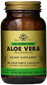 Solgar Full Potency Aloe Vera Vegetable Capsules, 100 Count