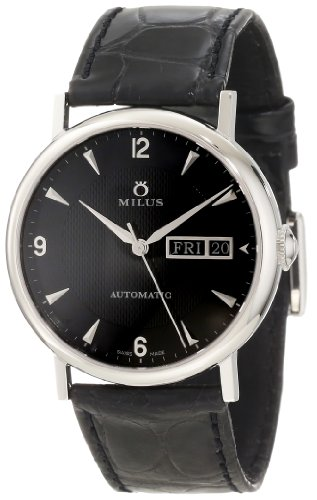 Milus Men's XEP001 Stainless Steel with Black Dial Watch