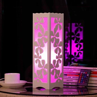 einfache hochwertigen beleuchtung rgb hollow out flowers shaped wooden table lamp with polymer. Black Bedroom Furniture Sets. Home Design Ideas