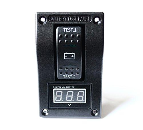 Voltmeter Battery Test Panel Rocker Switch Dpdt/On-Off-On For Marine/Boat/Rv 5-30V Dc