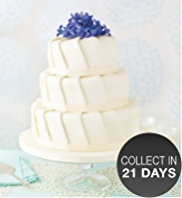Ruffle Sponge Wedding Cake